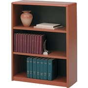 Safco® Value Mate® 3-Shelf Steel Bookcase, Cherry