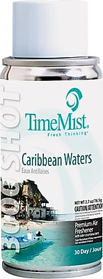 TimeMist Micro Ultra Concentrated Metered Air Freshener Refill, Caribbean Waters, 3 oz. Aerosol Can TMS336324TMCA