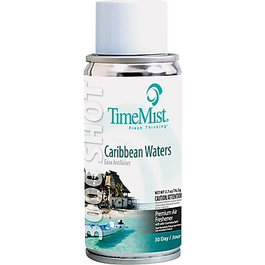TimeMist® Micro Ultra Concentrated Metered Air Freshener Refill, Caribbean Waters, 3 oz. Aerosol Can