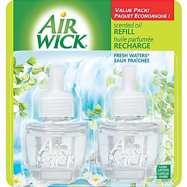 Air Wick Scented Oil Warmer Refill, Fresh Waters, 2/Pack
