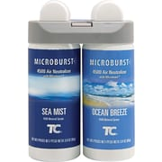 Rubbermaid® Commercial Microburst® Air Freshener Refill, Sea Mist/Ocean Breeze, Clear, 4 oz.