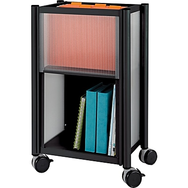 Safco® Impromptu® 26 3/4in.H x 16 1/2in.W x 11in.D Mobile Storage Center, Black