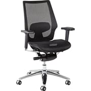 Alera ALEKE4218 K8 Mesh Executive Chair with Adjustable Arms, Black