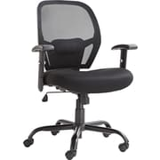 Alera  Merix450 Big And Tall Swivel Mesh Chair, Black