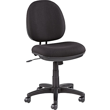 Alera ALEIN4819 Interval Leather Armless Task Chair, Black