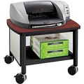 Safco® Impromptu™ 14 1/2in.H x 20in.W x 16 1/2in.D Under Table Printer Stand, Black/Cherry