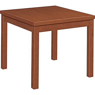 HON® Laminate Occasional Table, Henna Cherry, 20in.H x 24in.W x 24in.D