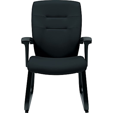 Global Synopsis™ 32% Polyester/68% Olefin Guest Arm Chair, Black
