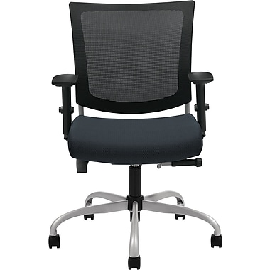 Global Graphic™ 32% Polyester Medium Posture Chair, Graphite/Mesh, Tungsten Base