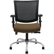 Global Graphic™ 32% Polyester Medium Posture Chair, Barley/Mesh, Tungsten Base
