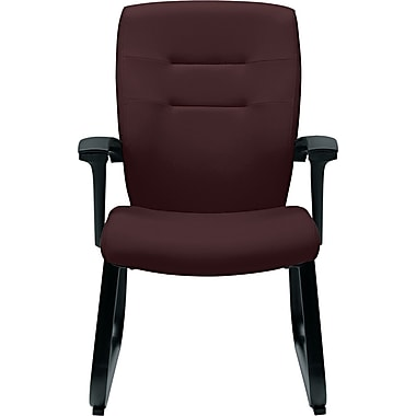 Global Synopsis™ 32% Polyester/68% Olefin Guest Arm Chair, Cabernet