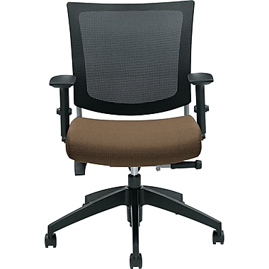 Global Graphic™ 32% Polyester Medium Posture Chair, Barley/Mesh, Black Base