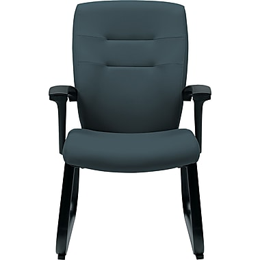 Global Synopsis™ 32% Polyester/68% Olefin Guest Arm Chair, Graphite