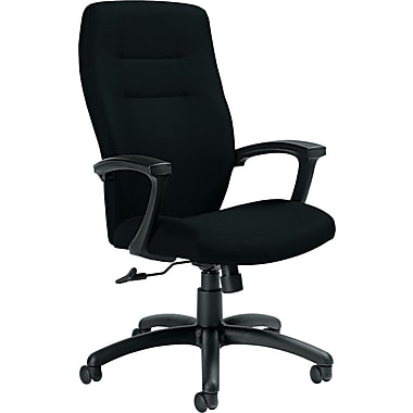 Global Synopsis™ 32% Polyester, 68% Olefin High Back Tilter Chair, Black