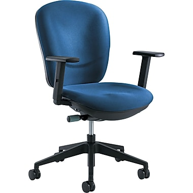 Safco 7205BU Rae Ergonomic Nylon Task Chair with Adjustable Arms, Blue