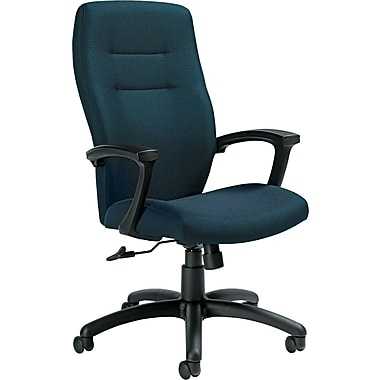 Global Synopsis™ 32% Polyester, 68% Olefin High Back Tilter Chair, Sapphire