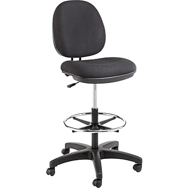 Alera  Interval 100% Acrylic Swivel Task Stool, Black