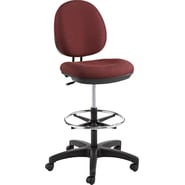 Alera  Interval 100% Acrylic Swivel Task Stool, Burgundy