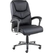 Alera® Toliz No Tool Assembly High Back Soft-Touch Leather Swivel/Tilt Chair, Black