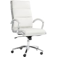 Alera® Neratoli High Back Slim Profile Faux Leather Chair, White