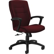 Global Synopsis™ 32% Polyester, 68% Olefin Medium Back Tilter Chair, Cabernet