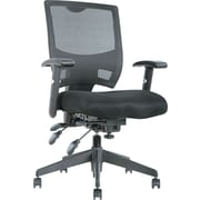 Alera ALEEP4217 Epoch Mesh Mid-Back Managers Chair with Adjustable Arms, Black