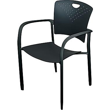 BALT® Polypropylene Back/Seat Oui Stack Chair, Black