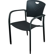 BALT® Polypropylene Back/Seat Oui Stack Chair, Black