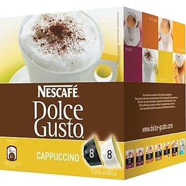 Nescafe Dolce Gusto Coffee Capsules, Cappuccino, 2.13 oz., 16/Box