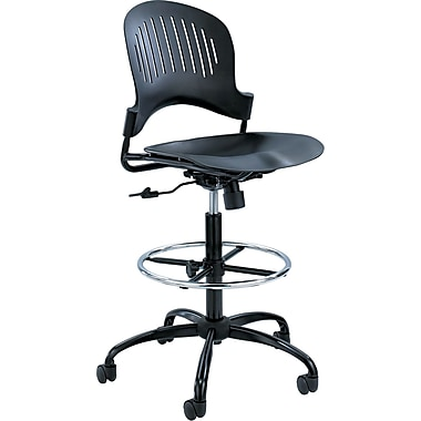 Safco ® Zippi Plastic Extended Height Chair, Black