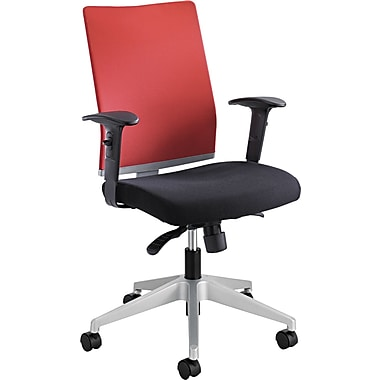 Safco  Tez Fabric Manager Synchro-Tilt Task Chair, Black/Red