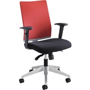 Safco 7031TA Tez Mesh High-Back Managers Chair Adjustable Arms, Red/Black