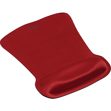 Staples Gel Mouse Pad with Wrist Rest, Gel, Red