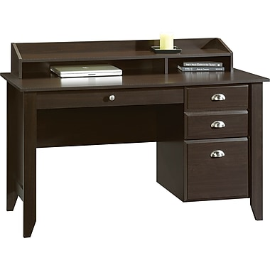 Sauder Shoal Creek Desk w/ Hutch, Jamocha Wood
