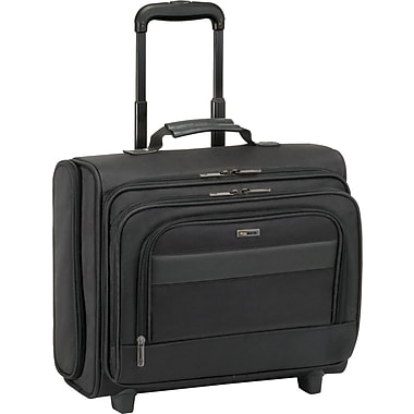 SOLO® Ballistic Poly Rolling Overnighter Laptop Case, Black, 15.6in.