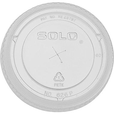 SOLO Straw Slot Lids, 16 oz., 1,000/Case