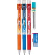 Pentel® Recycled e-sharp™ Automatic Pencils, .7mm, Assorted, 3/Pack Starter Set