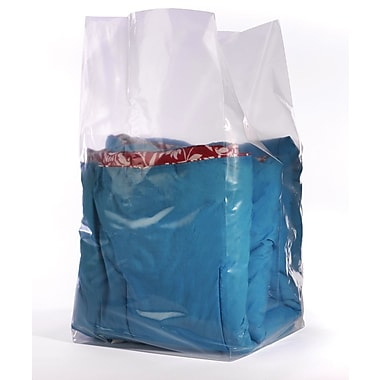 Clear Gusseted Poly  Bags  1.5 mil, 14x14x26