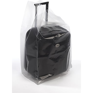 Clear Gusseted Poly  Bags  3 mil, 16x12x30