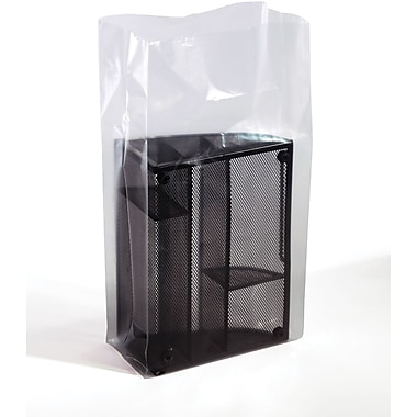 Clear Gusseted Poly  Bags  3 mil, 10x4x24