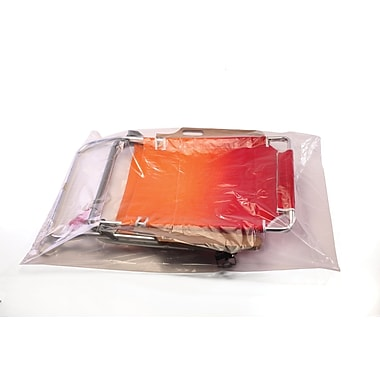 Clear Lay Flat Poly  Bags  2 mil, 34x36