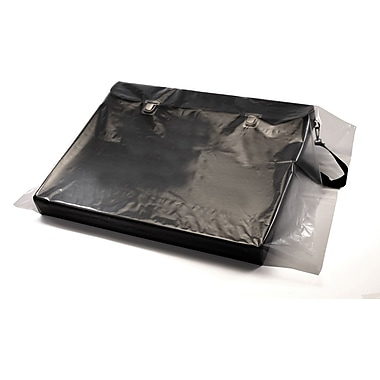 Clear Lay Flat Poly Bags 4 mil, 15x24