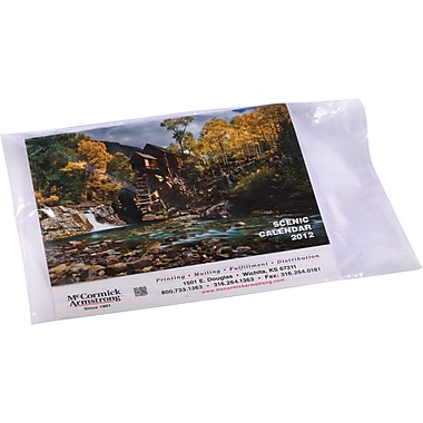 12in. x 16in., 1 mil, Flat Poly Bags, 1000/Case