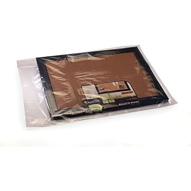 Clear Lay Flat Poly Bags 2 mil, 13x16