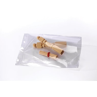 Clear Lay Flat Poly Bags 1.5 mil, 3x6