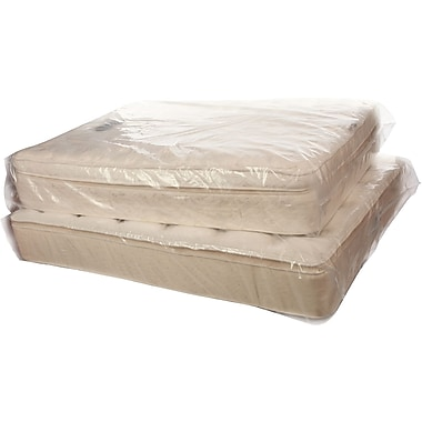 Clear Mattress Bags Full 1.5 mil, 54x8x90