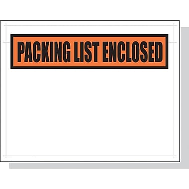 Packing List Envelopes , 4.5x6