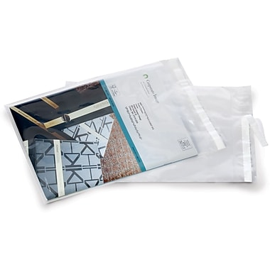Clear Postal Approved Lip & Tape Mailing Bags, 9x12
