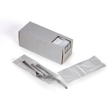 Clear Silverware Bags in Dispenser Box 0.6 mil, 3.75x10