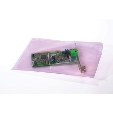 06in. x 8in., 2 mil, Pink Amine-free Antistatic Bags , 1000/Case